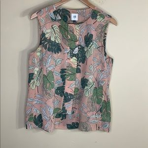 Cabi # 5351 sleeveless tropical blouse
